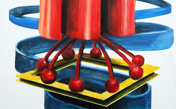 Aquarelle, fusain, acrylique, collage, 42 x 26 cm