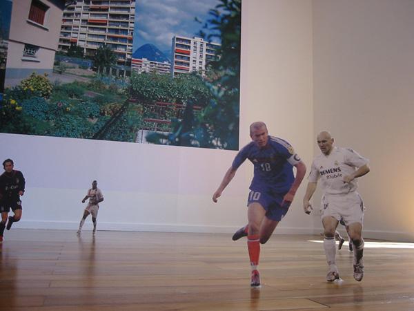 Réalisation de 22 joueurs de football disposés au sol