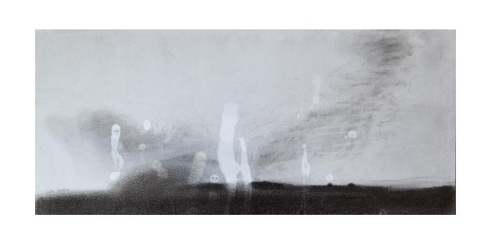 Graphite et gesso sur papier, 22,1 x 50 cm