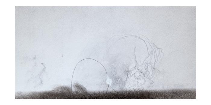 Graphite et gesso sur papier, 22 x 42,6 cm