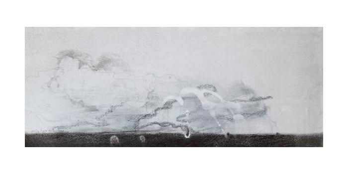 Graphite et gesso sur papier, 19 x 47 cm