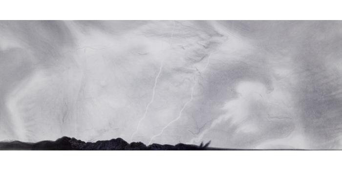 Graphite et gesso sur papier, 34,2 x 89,2 cm