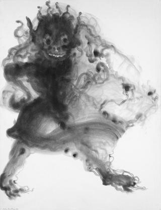 Dessins à la poudre de graphite sur papier, 60 x 55 cm