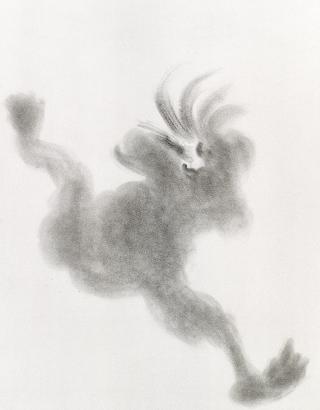Dessins à la poudre de graphite sur papier, 60 x 55 cm<br/>Collection Ville de Vénissieux