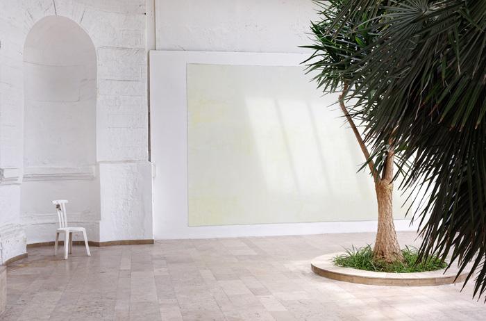 Peinture et pointes sur Dibond, 450 x 300 cm