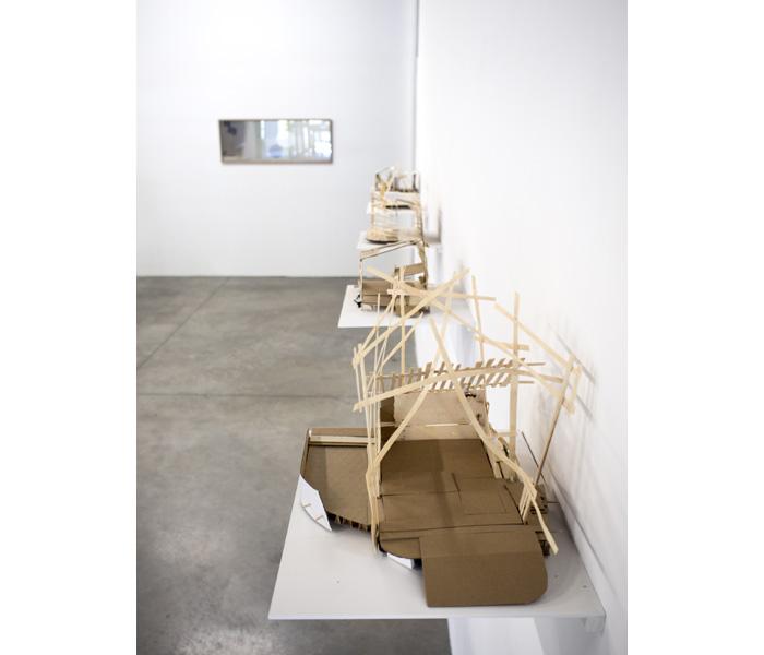 <i>Maquettes Abandonnées</i>, 2014-2015, Bois, carton, carton plume, papier, dimensions variables