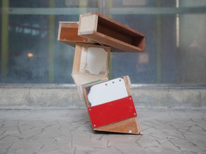 Assemblage bois, plastique, dimensions variables