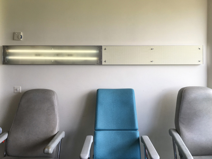 Couloirs et chambres de l'hôpital