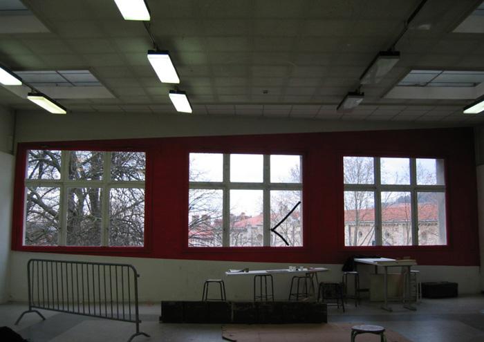 Peinture acrylique Atelier de première année de l'École Nationale Supérieure des Beaux-Arts de Lyon